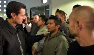 Enrique Peña Nieto recibió a 135 mexicanos deportados de EEUU