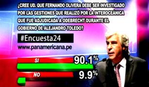 Encuesta 24: 90.1% cree que Fernando Olivera debe ser investigado