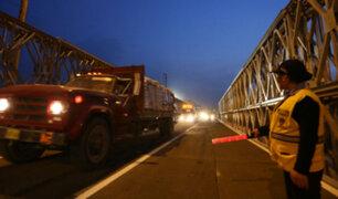 Autopista Ramiro Prialé: reabren tránsito tras instalación de puente bailey