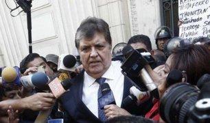 Alan García declaró por el caso Gasoducto Sur Peruano