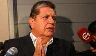 """Alan García: """"Colaboraré para que los funcionarios corruptos sean sancionados"""""""