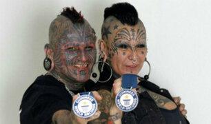 Colombia: conozca a la pareja con más tatuajes del mundo