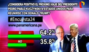 Encuesta 24: 64.2% considera positivo viaje de PPK a EEUU