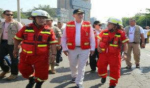Presidente Kuczynski participó en Feria de Prevención organizada por Bomberos