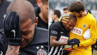 Futbolista se retira llorando del partido tras recibir insultos racistas del público
