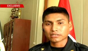 Suboficial Lorenzo Machaca narra cómo intervino para evitar más muertes