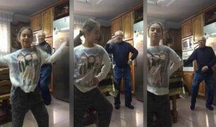 """Abuelito baila """"Despacito"""" junto a su nieta y se vuelve sensación en redes sociales"""