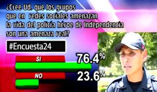 Encuesta 24: 76.4% cree que amenazas de grupos son reales