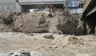 Río Rímac: refuerzan estructura de puente Dueñas ante aumento del caudal