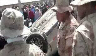 Puno: militares acusados de manejar en estado de ebriedad causan accidente