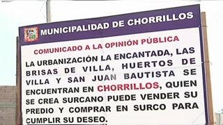 Chorrillos: alcalde coloca polémico mensaje a los vecinos