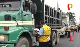 SMP: realizan operativo contra el transporte informal