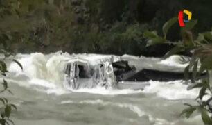 Ancash: caminoneta cae a río Santa y deja dos fallecidos