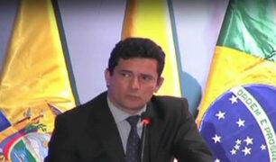 Lava Jato: juez brasileño Sergio Moro en Lima