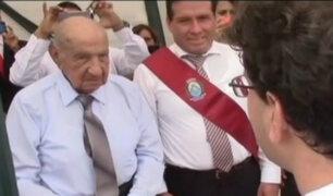 Condecoran a peruano que luchó en la II Guerra Mundial