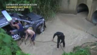Tarapoto: tres policías heridos al caer patrullero a acequia