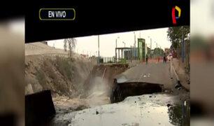 SMP: río Rímac se desborda en el Puente Dueñas