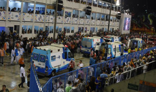 Carnaval de Río de Janeiro: carro alegórico arrolla a 20 personas
