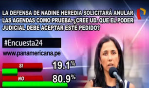 Encuesta 24: 80.9% cree que no se deben quitar a las agendas como pruebas