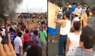 Trujillo: pobladores bloquean carretera en protesta por constantes accidentes