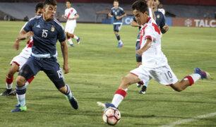 Argentina venció 3-0 a Perú por el Sudamericano Sub 17