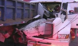 Panamericana Sur: testigos de accidente aseguran que tráiler iba a excesiva velocidad