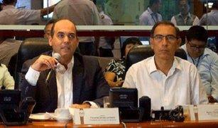 Gabinete ofrece respaldo a ministro Martín Vizcarra frente a interpelación