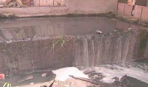 SMP: vecinos afectados por canal de regadío contaminado