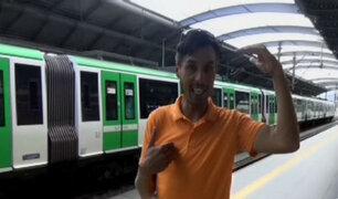 """""""Richiboy"""" cumple su sueño y viaja por primera vez en tren"""