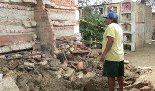 Cañete: huaico en el distrito de Asia dañó cementerio