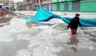 Puno: lluvia y granizada de casi 5 horas afectó Juliaca