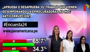 Encuesta 24: 65.7% aprueba el desempeño de las procuradoras Ad Hoc