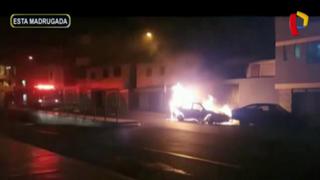 Chorrillos: incendio en auto provoca pánico en vecinos