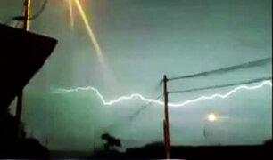 Terrible tormenta eléctrica alerta a la población en Piura