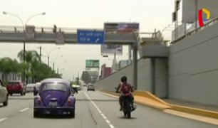 Motociclistas no respetan señales de tránsito e invaden vías prohibidas