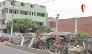 Inmediaciones de comisarías continúan siendo depósito informal de vehículos