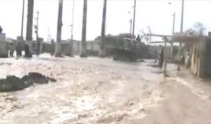 Chincha: al menos 200 familias afectadas por desborde de río Matagente