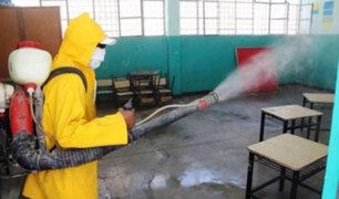 Lambayeque: fumigan escuelas antes de inicio de clases en Reque