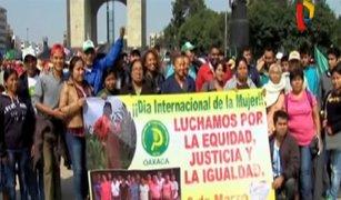 Miles de personas marcharon por el Día Internacional de la Mujer