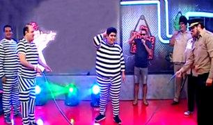 """Policías con sobrepeso cumplen divertido reto en """"La Noche Es Mía"""""""
