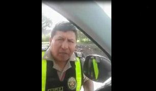 Policía impide que ambulancia use vía del Metropolitano