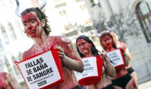 España: activistas protestan contra las corridas de toros en Valencia