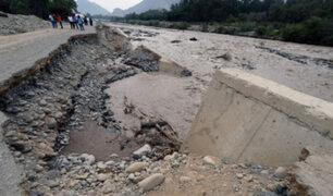 Cieneguilla: crecida del río Lurín daña malecón y derriba muro de contención