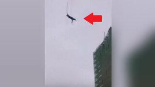 El salto de la muerte terminó de una manera inesperada en Rusia