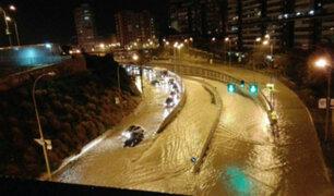 España: torrenciales lluvias provocan inundaciones en Alicante