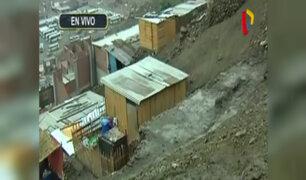 Carabayllo: deslizamiento de tierra tras intensa lluvia de madrugada