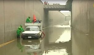 Huachipa: bypass inundado genera congestión vehicular en Carretera Central