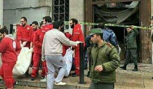 Siria: Más de 30 muertos deja ataque suicida contra Palacio de Justicia
