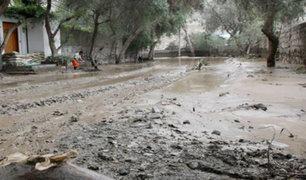 Pachacámac: huaico inunda tres centros poblados en Manchay y destruye albergue