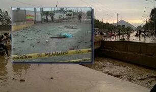 SJL: cierran puente tras desborde de río Huaycoloro